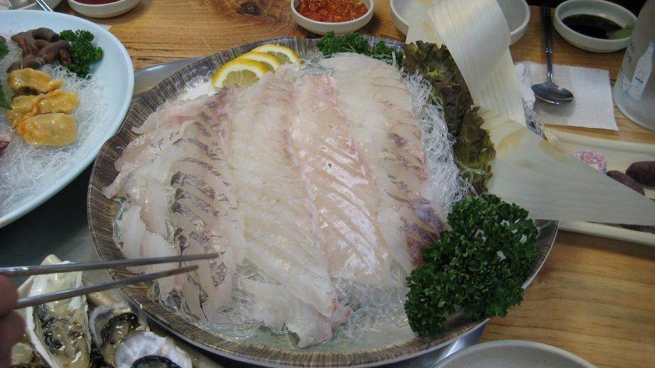 Koreaanse sashimi