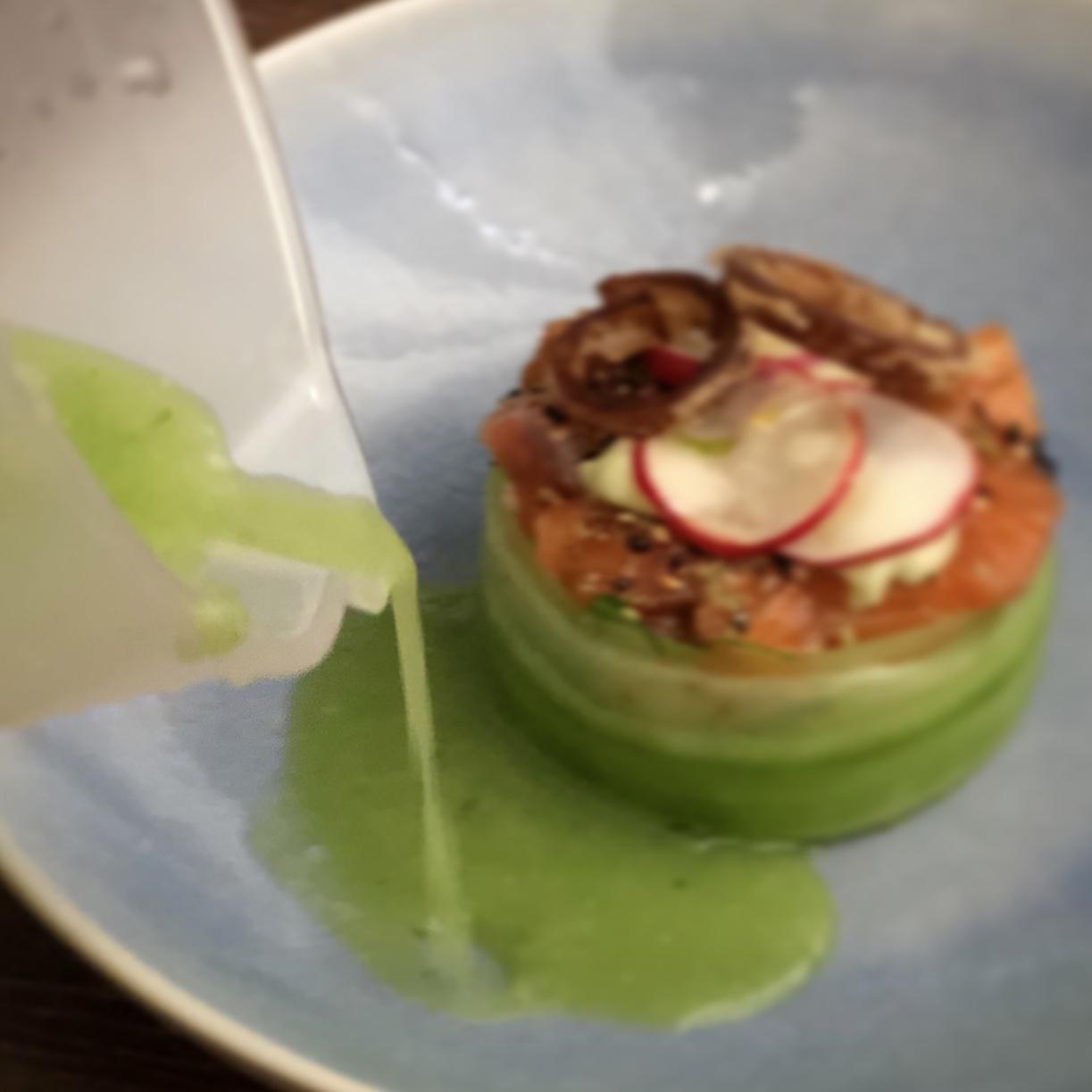 Japanse komkommersoep