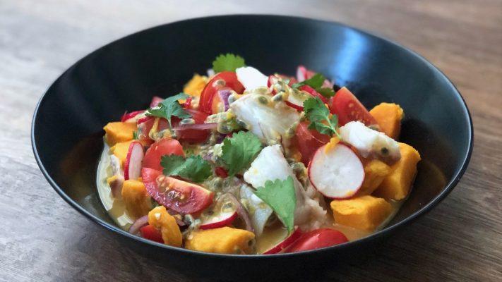 Ceviche met passievrucht: verrassend, fris en pittig