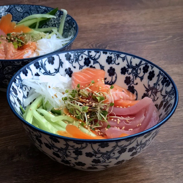 Koreaanse sashimi bowl