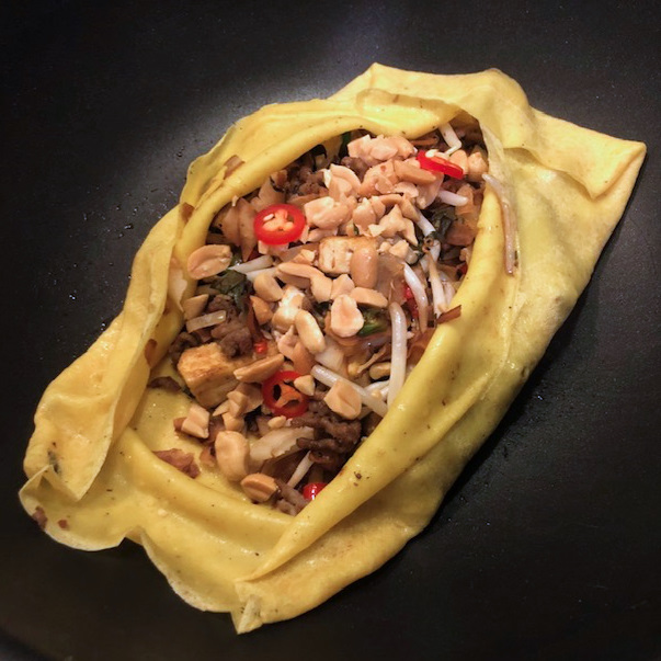 Gevulde Thaise pannenkoek