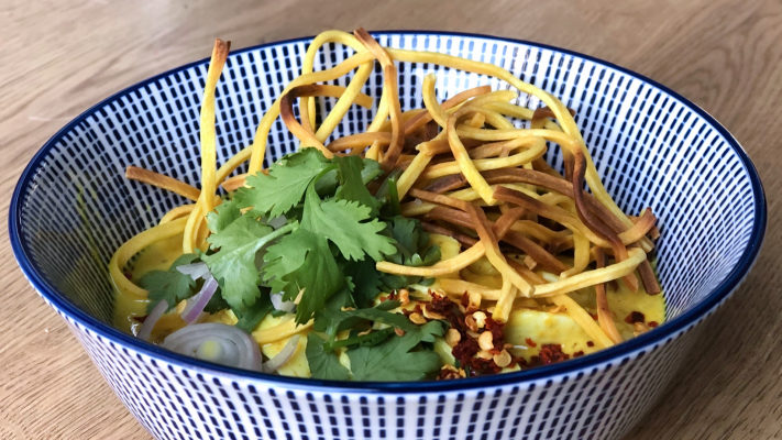 Khao soi met kip: dé Thaise currysoep met noedels