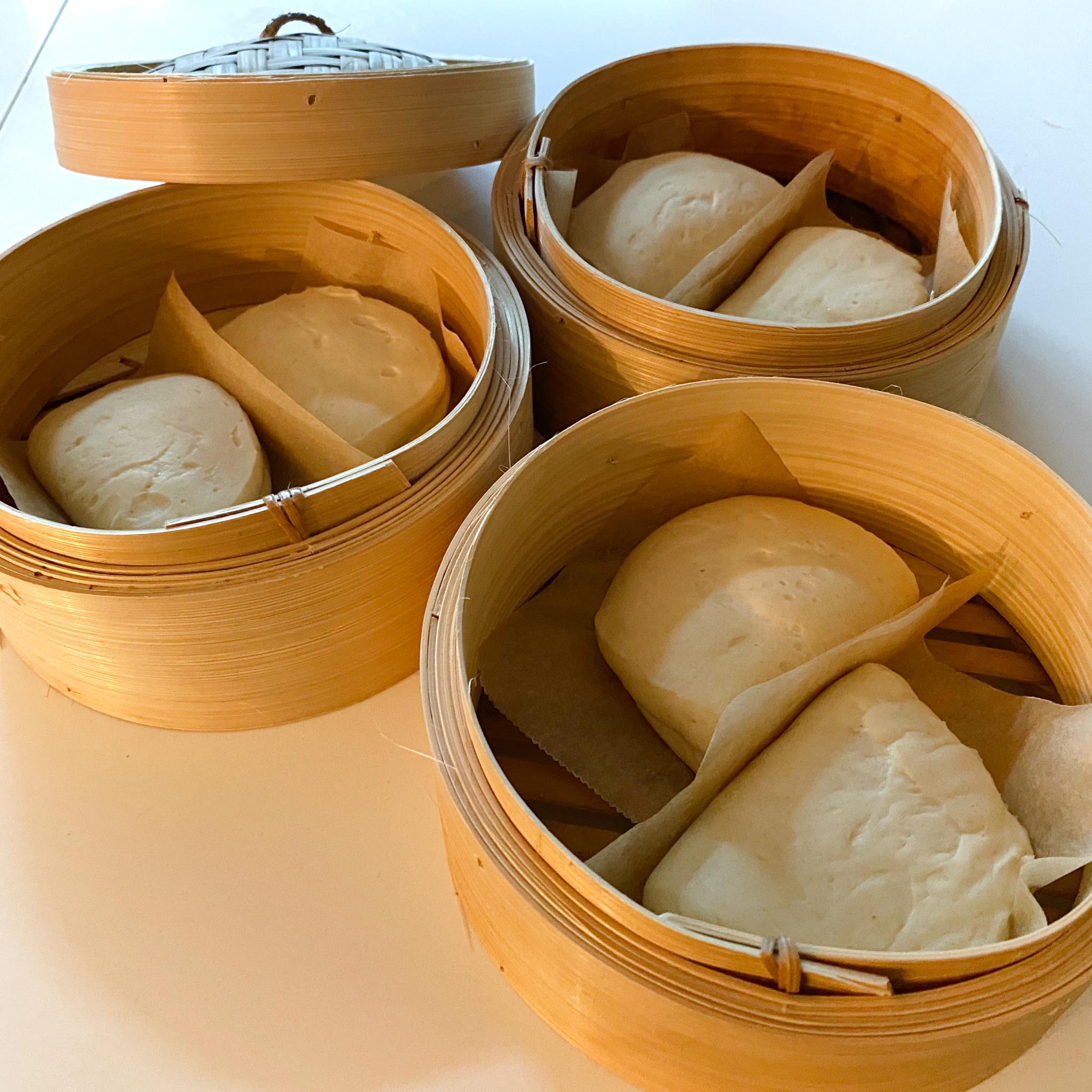 gestoomde broodjes