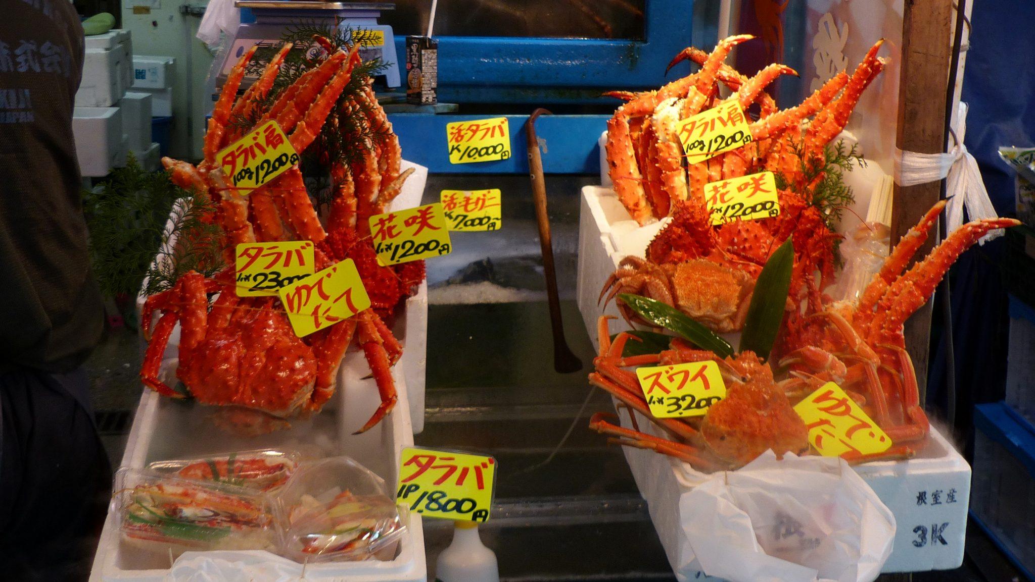 Spartelverse sushi op de vismarkt van Tsukiji