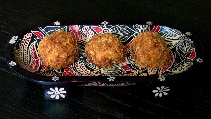 Pompoen kroketjes uit Japan (kabocha korokke)