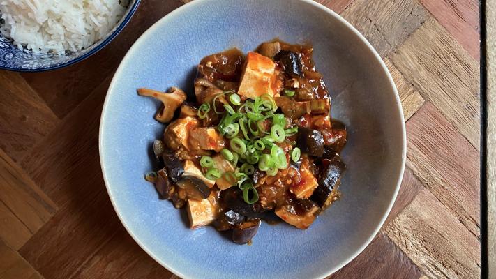 Vegetarische mapo tofu