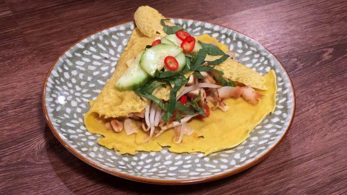 Gevulde Thaise pannenkoek: khanom bueang yuan
