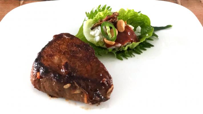 Ssambap met steak á la Momofuku